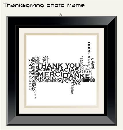 Thanksgiving photo frame Stock Vector - 10094186