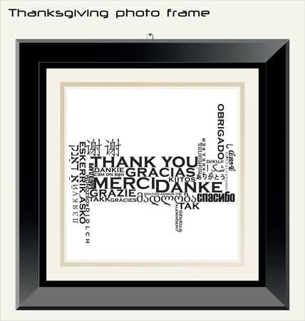 Thanksgiving photo frame Stock Vector - 10094186