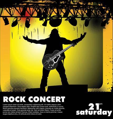 guitariste: Concert rock