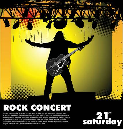 musician silhouette: Rock concert