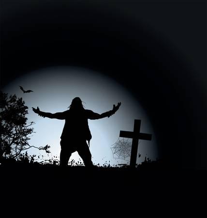 tomb: zombie night Illustration