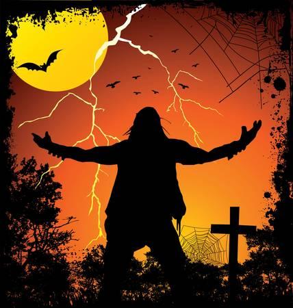 cementerios: noche de Halloween Vectores