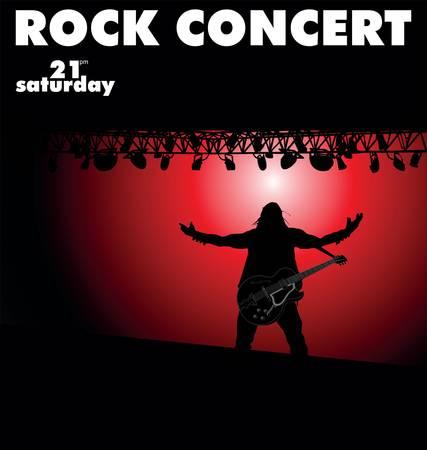rock concert: Concierto de rock Vectores