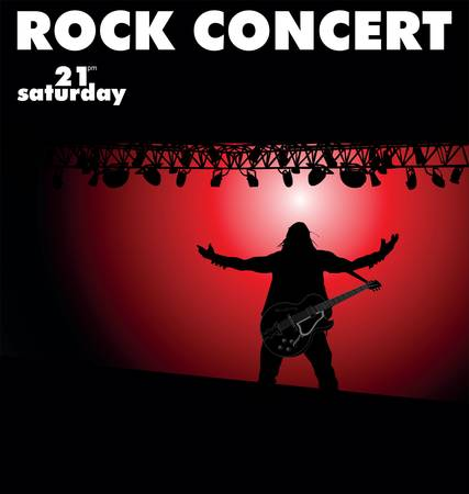 Rock concert Stock Vector - 10094205