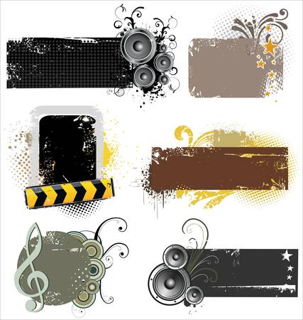 music banner: Grunge music banners