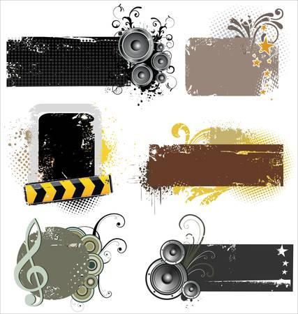 Grunge music banners