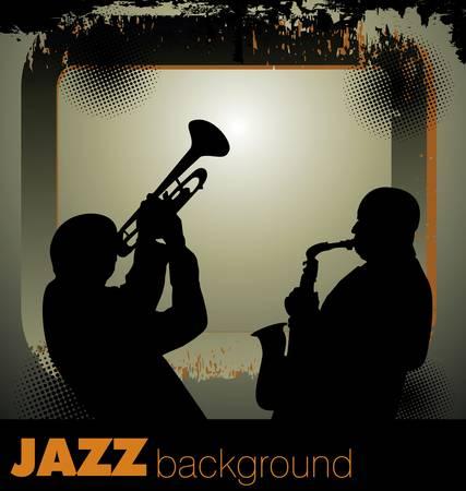 jazz musicians background Vector