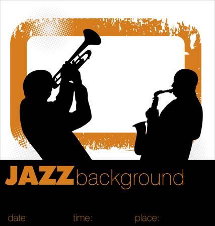 arrière-plan de musiciens de jazz Vecteurs