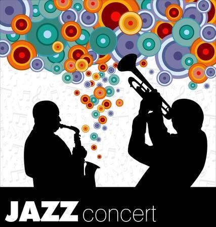 jazz musicians background Stock Vector - 10136840