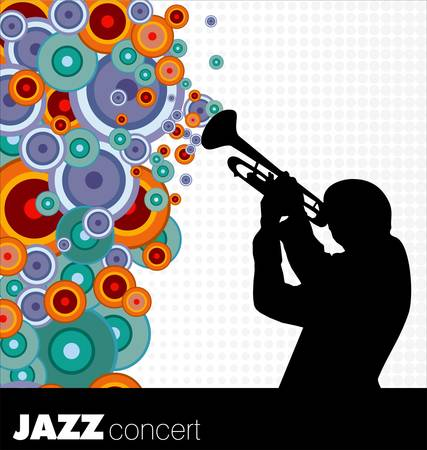 jazz musician background Vector