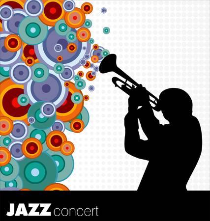 jazz musician background Vector