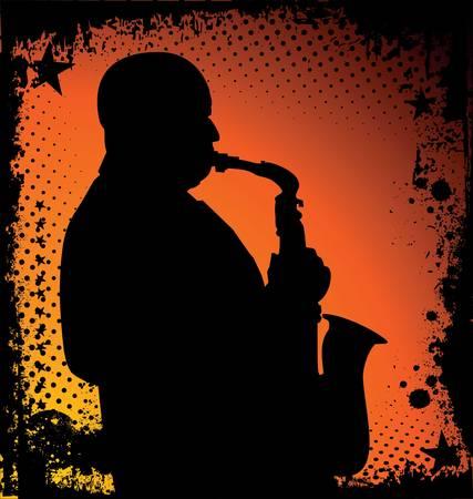 jazz musician background Stock Vector - 10136845