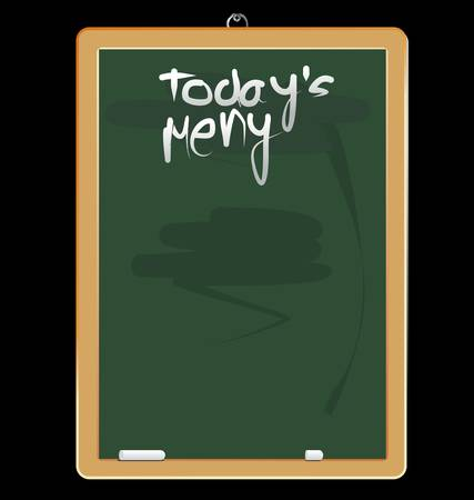 chalky: Menu blackboard - green Illustration