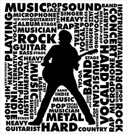 guitarristas: m�sica de fondo Vectores