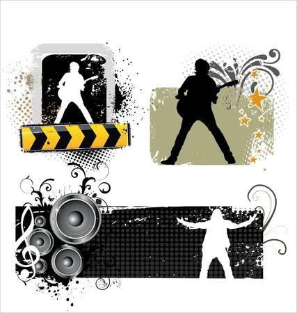 hard rock: Music banners