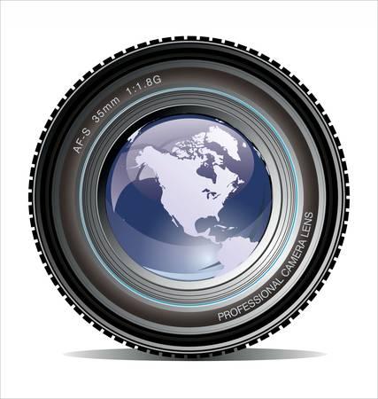objetivo: Lente de la cámara