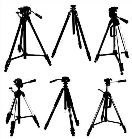 Camera tripods Vector
