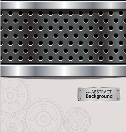 Abstract perforated aluminium background Stock Vector - 10287246