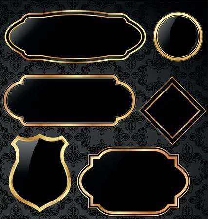 goud vintage frames