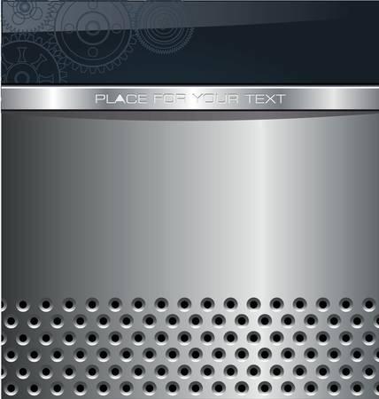 rivet: абстрактные металлические фон Иллюстрация