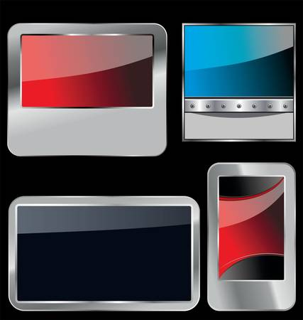 car plate: glossy metallic banners