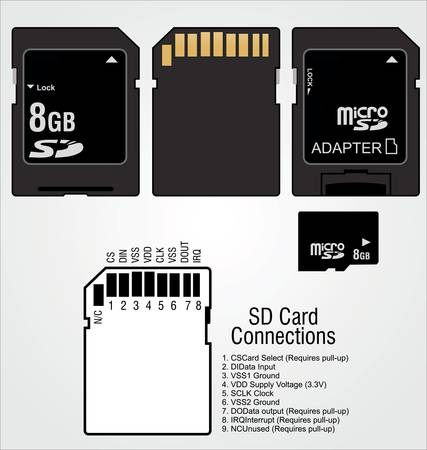 Image of a memory SD cards Vector
