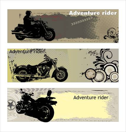 motor cycle: Adventure rider Illustration