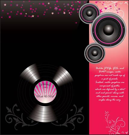 retro music poster with Stock Vector - 10594798