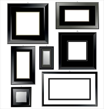 Empty black Frames Vector