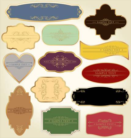 labels: Set of pastel labels