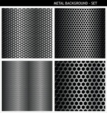 metal grate: Metal Grill - set  Illustration