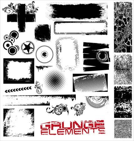 grunge edge: Grunge elements