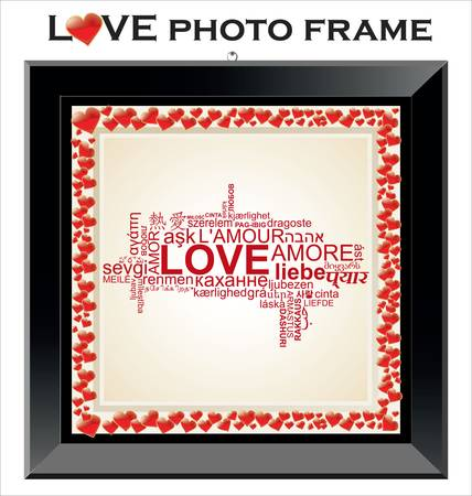 pretty s shiny: LOVE photo frame Illustration