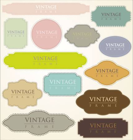 nouveau: vintage labels - set Illustration