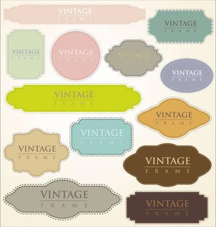 art product: vintage labels - set Illustration