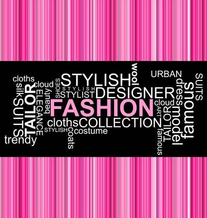 ファッション - 単語のコラージュ  イラスト・ベクター素材