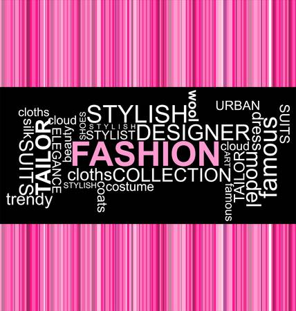 FASHION - Word collage Stock Vector - 10749299