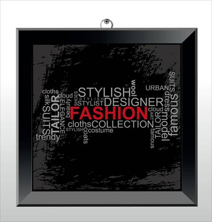 FASHION - Word collage Vector