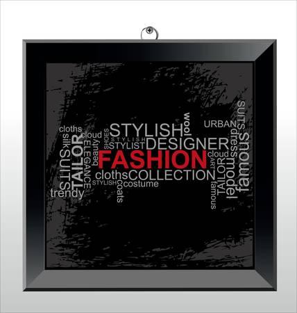 moda urbana: Moda - collage de Word Vectores