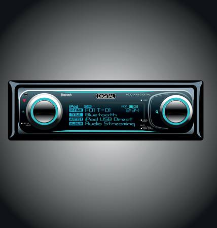 sound system: Car Audio Moderno Vectores