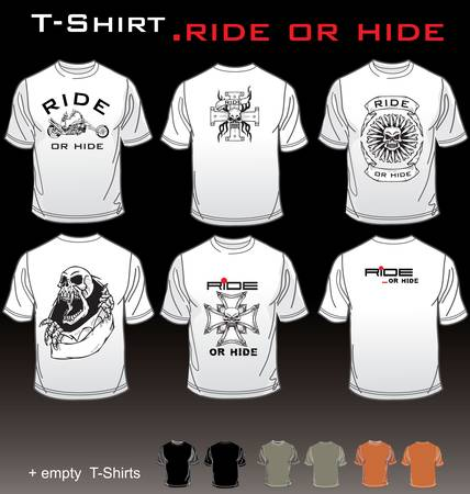 t shirt isolated: T-Shirt Ride or Hide Illustration