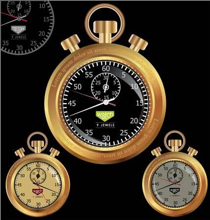 Golden Stopwatch Stock Vector - 10795967