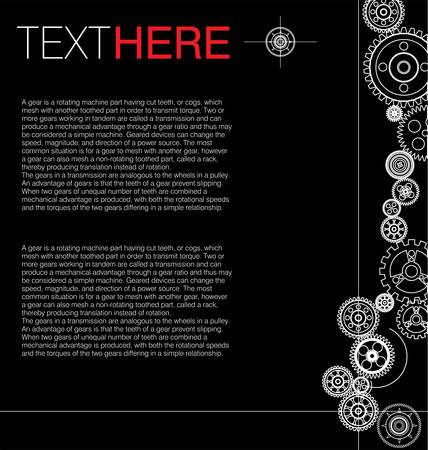 gears background: Gears background  Illustration