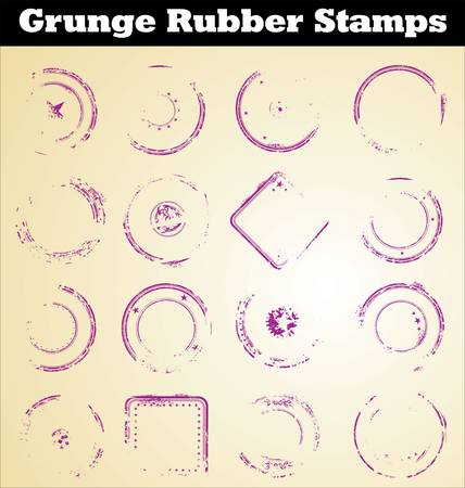 rubber stamp: Grunge empty stamps