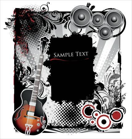 Grunge muziek achtergrond Vector Illustratie