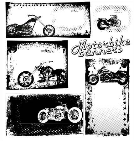 grunge vector - Motorrad