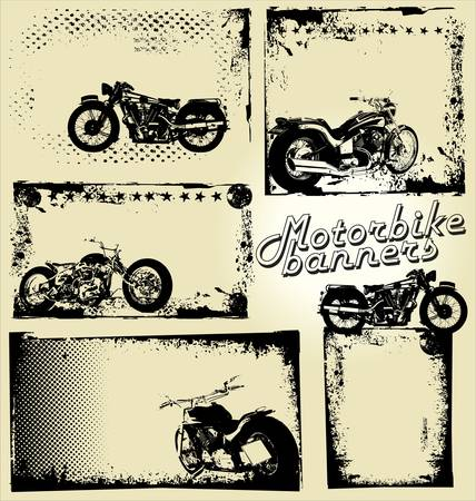 motorway: grunge vector - motorbike Illustration