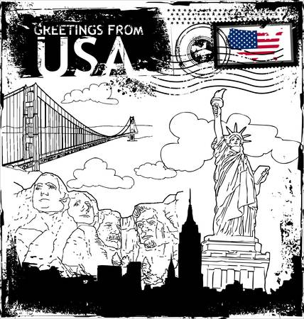 grunge rubber stamp with the flag of USA  Stock Vector - 10824962