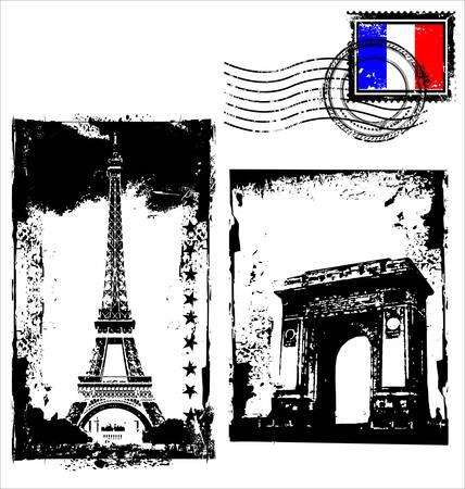 Paris-France frames Vector
