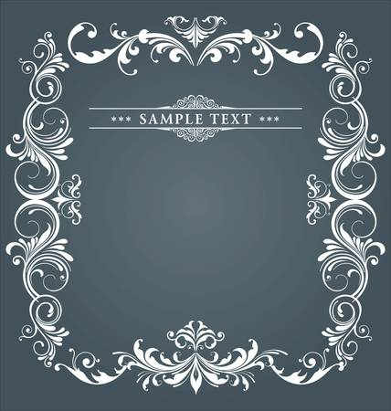 vintage card with ornament background Stock Vector - 10869132